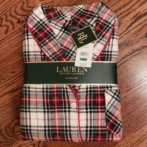 Ralph Lauren Plaid Flannel Pajamas sz Large NWT
